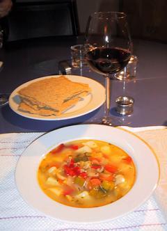 Suppe på pinnekjøttkraft